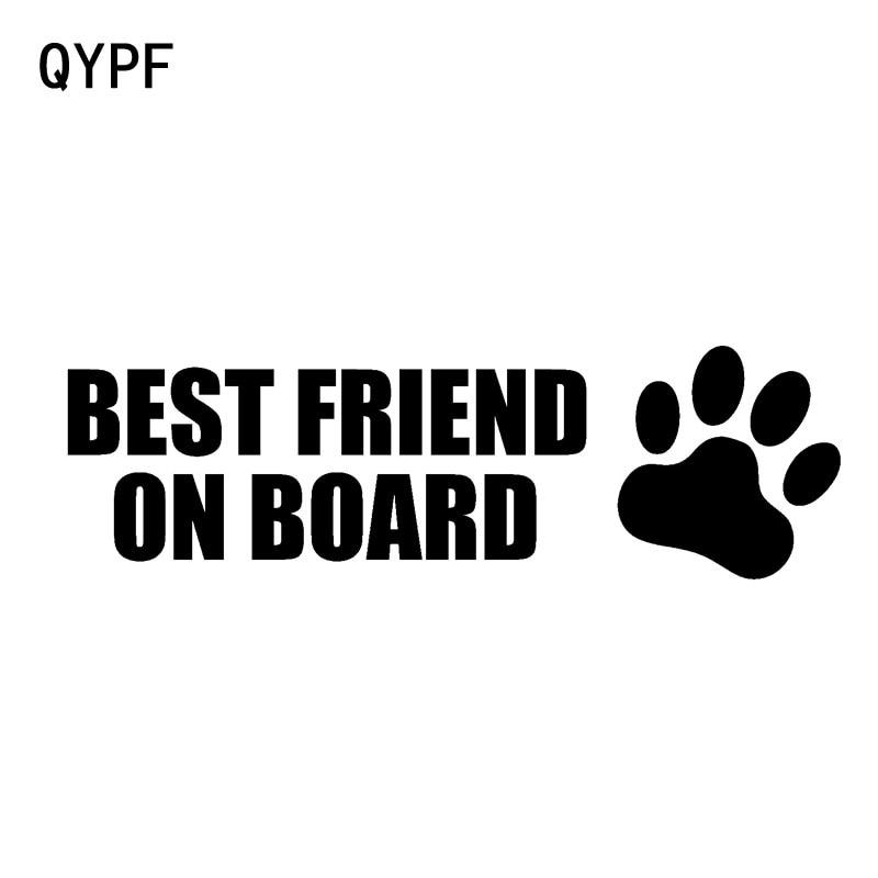 QYPF 13.8CM*4.3CM BEST FRIEND ON BOARD Vinyl Motorcycle Car Sticker Decal Black Sliver C14-0231