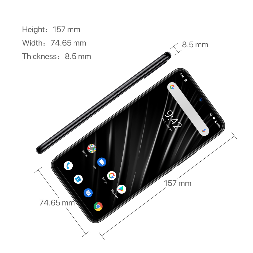 "Image 4 - UMIDIGI S3 PRO Ceramic 6GB 128GB Helio P70 Android 9.0 6.3"" FHD+ 48MP+12MP Back Cameras 20MP Selfie Camera 5150mAh Smartphone-in Cellphones from Cellphones & Telecommunications"