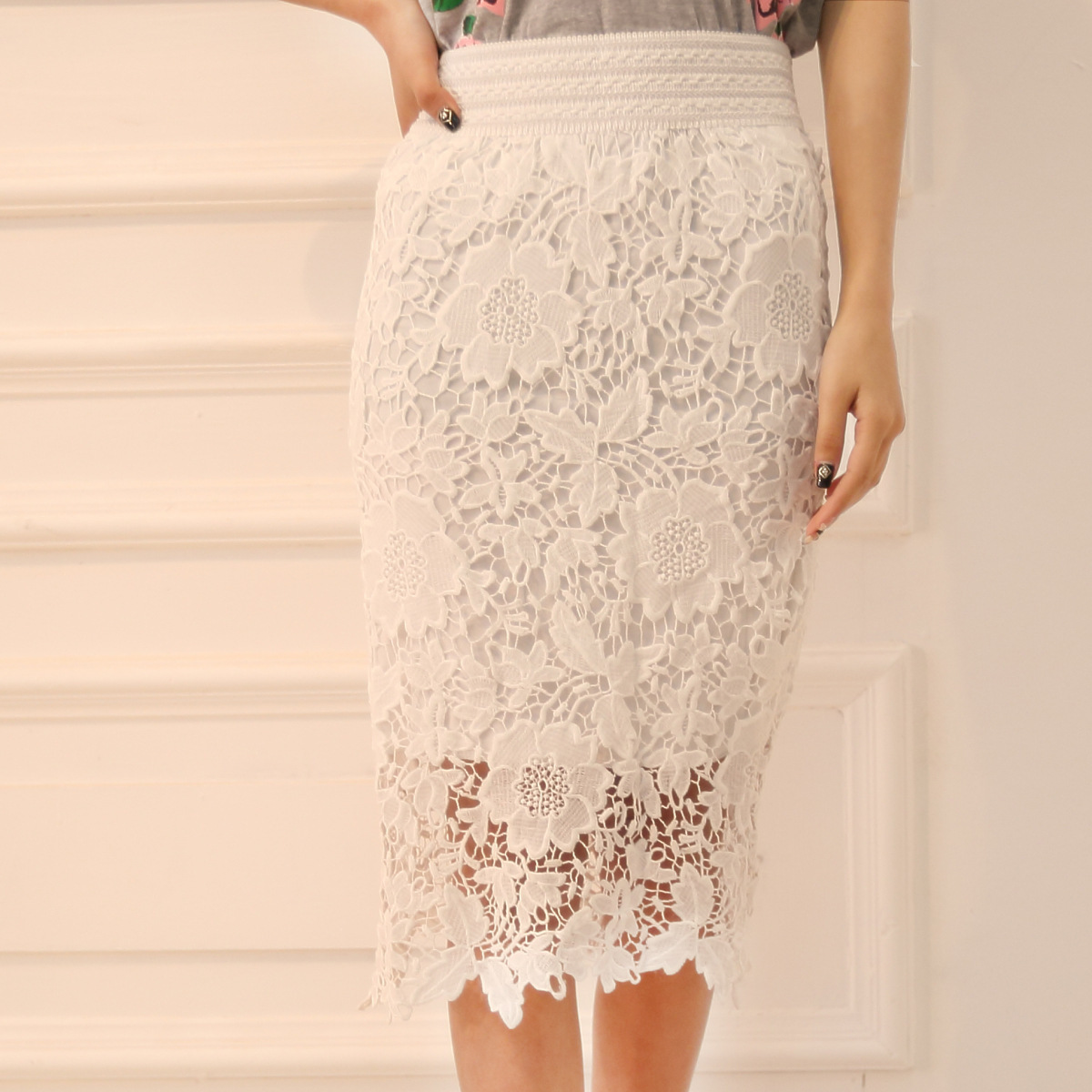 Compare Prices on White Lace Pencil Skirt- Online Shopping/Buy Low ...