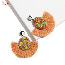 2019 New ZA Handmade Ethnic Bohemian Tassel Earrings for Women Rope Fringe Drop Dangle Statement Earring Party Jewelry