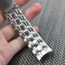 Stainless Steel Watchband 22mm Universal Replacement Watch Band Bracelet Link Strap Silver