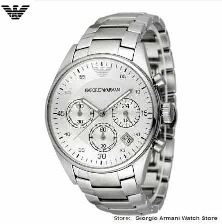 Gratis verzending originele Giorgio Armani horloges, business casual, - Herenhorloges