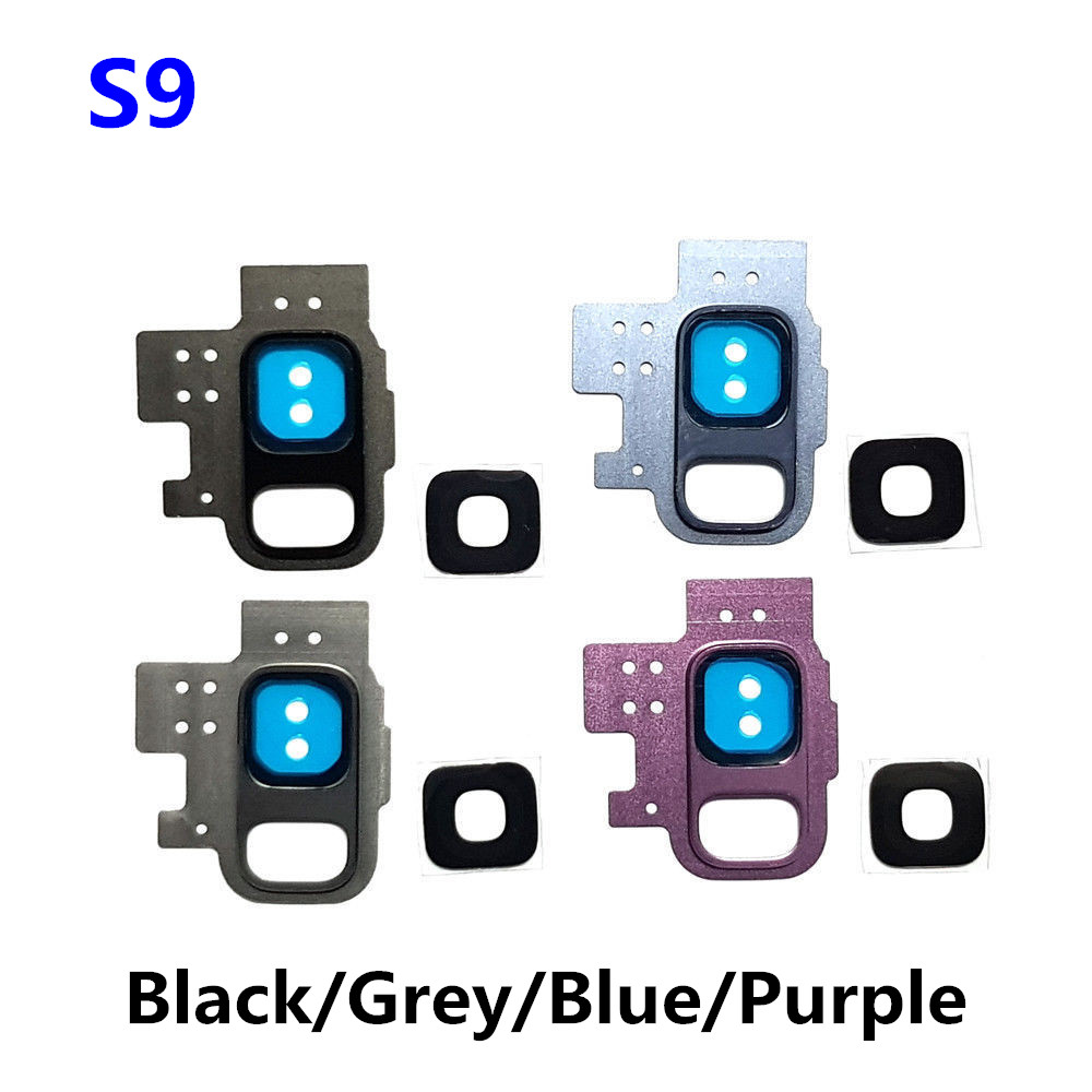 1PC New Rear Camera Lens For Samsung Galaxy S9 Rear Back Camera Glass Lens Cover with Frame Holder Replacement Part