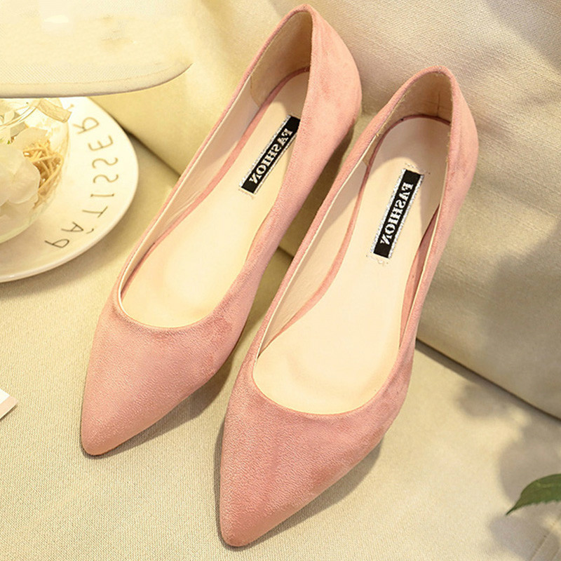 New Women Suede Flats Fashion High Quality Basic Mixed Colors Pointy Toe Ballerina Ballet Flat Slip On Shoes B587New Women Suede Flats Fashion High Quality Basic Mixed Colors Pointy Toe Ballerina Ballet Flat Slip On Shoes B587