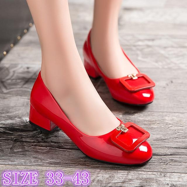 Low High Heels Women Pumps High Heel Shoes Stiletto Woman Party Wedding Shoes Kitten Heels Plus Size 33 - 40 41 42 43
