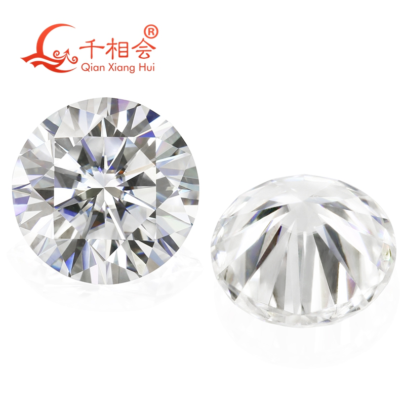 6.5mm DF  color white Round Brilliant cut moissanites loose stone with  certificate 4