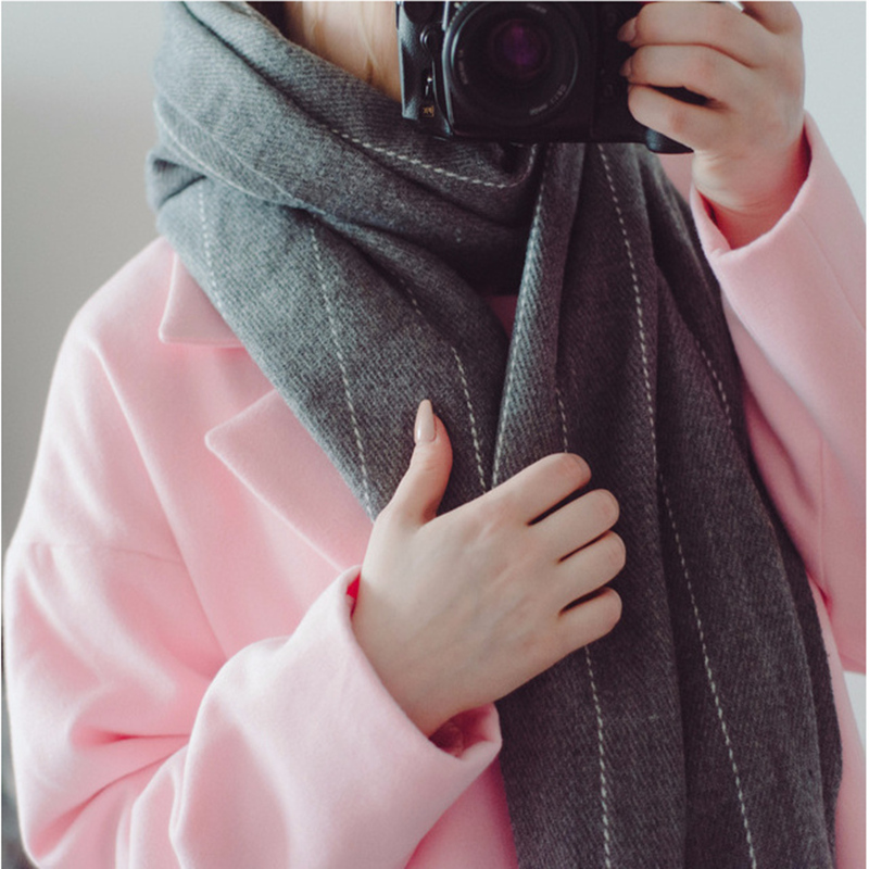Za Zima luxusní značka Plaid Cashmere Šála Ženy Velkoformátová deka Šátek Zabalte dlouhý vlněný šátek Ženy Pashmina Šály a šály