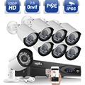 Sannce poe cctv sistema 8ch 1080 p full hd 1920*1080 8 unids 2.0MP PoE NVR IP cámara al aire libre home CCTV de Vigilancia Grabadora kit