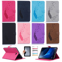 Cover For Samsung Galaxy Tab A 10 T580 Artificial Leather 360 Rotating Stand Case Cover For