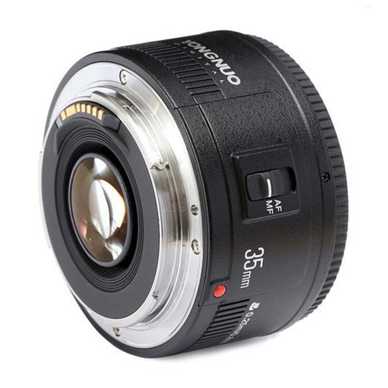 SCLS YONGNUO YN35mm F2 Lens 1:2 AF / MF Wide-Angle Fixed/Prime Auto Focus Lens For Canon EF Mount EOS Camera