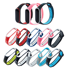 2Colors Strap For Mi Band 3 Strap Smart Watch Silicone bracelet for Xiaomi Mi Band 3 4 Accessories Wristband miband3 Replacement 3 length smart accessories silicon wristband for xiaomi mi band 2 replacement strap band case wristband fit 52315 181007 jia