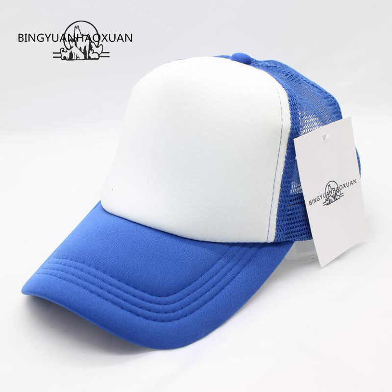 0359a958105 BINGYUANHAOXUAN2017 New Custom new York Trucker Mesh Baseball Caps Adult  men and women Advertise Tourism snapback