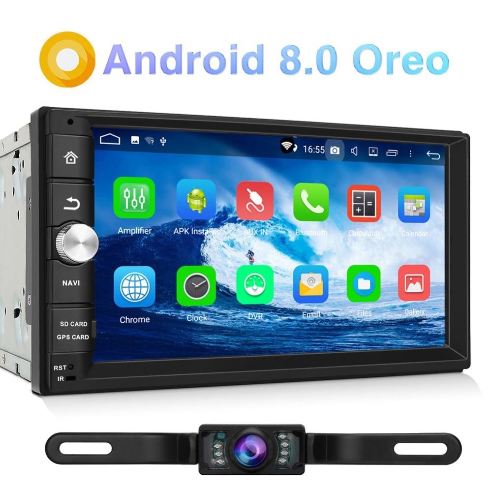 Citrouille 2 Din Android 8.0 Universel De Voiture Radio Aucun Lecteur DVD GPS de Navigation Bluetooth Voiture Stéréo Qcta-core Wifi 4g DAB + Headunit