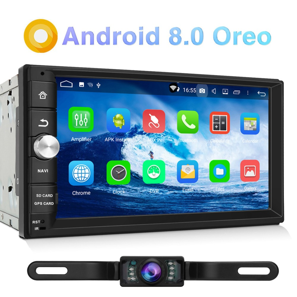 Pumpkin 2 Din Android 8.0 Universal Car Radio No DVD Player GPS Navigation Bluetooth Car Stereo Qcta-core Wifi 4G DAB+ Headunit android 8 0 2 din 7 universal car radio no dvd player gps navigation 4gb ram car stereo fm rds wifi 4g dab headunit