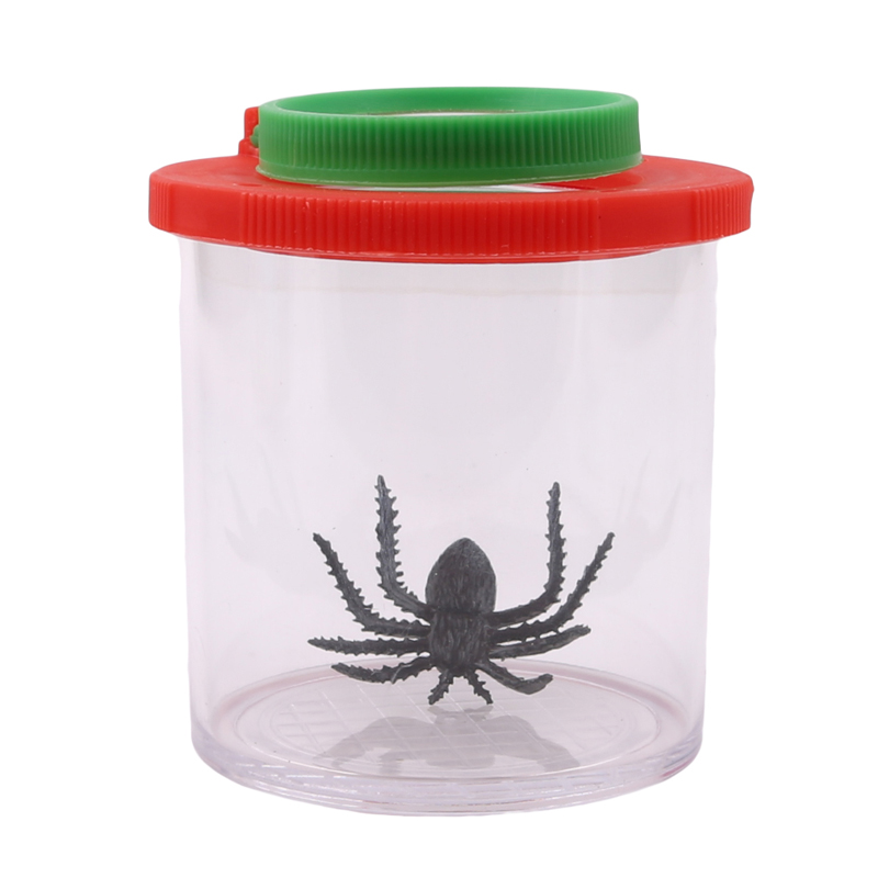 Insects Small Animal Magnifier Glass Cylindrical Spider Educational Toy Plastic Bottle Insects Viewer Observation New Arrivals