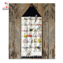 KAMIMI bed curtain new hot baby hung storage bag 24 pockets bed room decoration