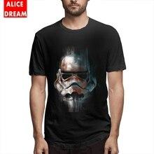 Stormtrooper T Shirt Boy Summer Star wars t shirt 100% Cotton Tee Big Size Homme