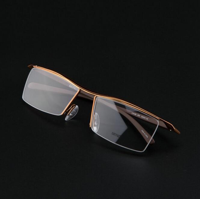 9e9538dad9 Men Optical Frames Eyeglasses Frames Rack Commercial Glasses Fashion Eyeglasses  Frame Myopia Titanium Frame TR90 Legs