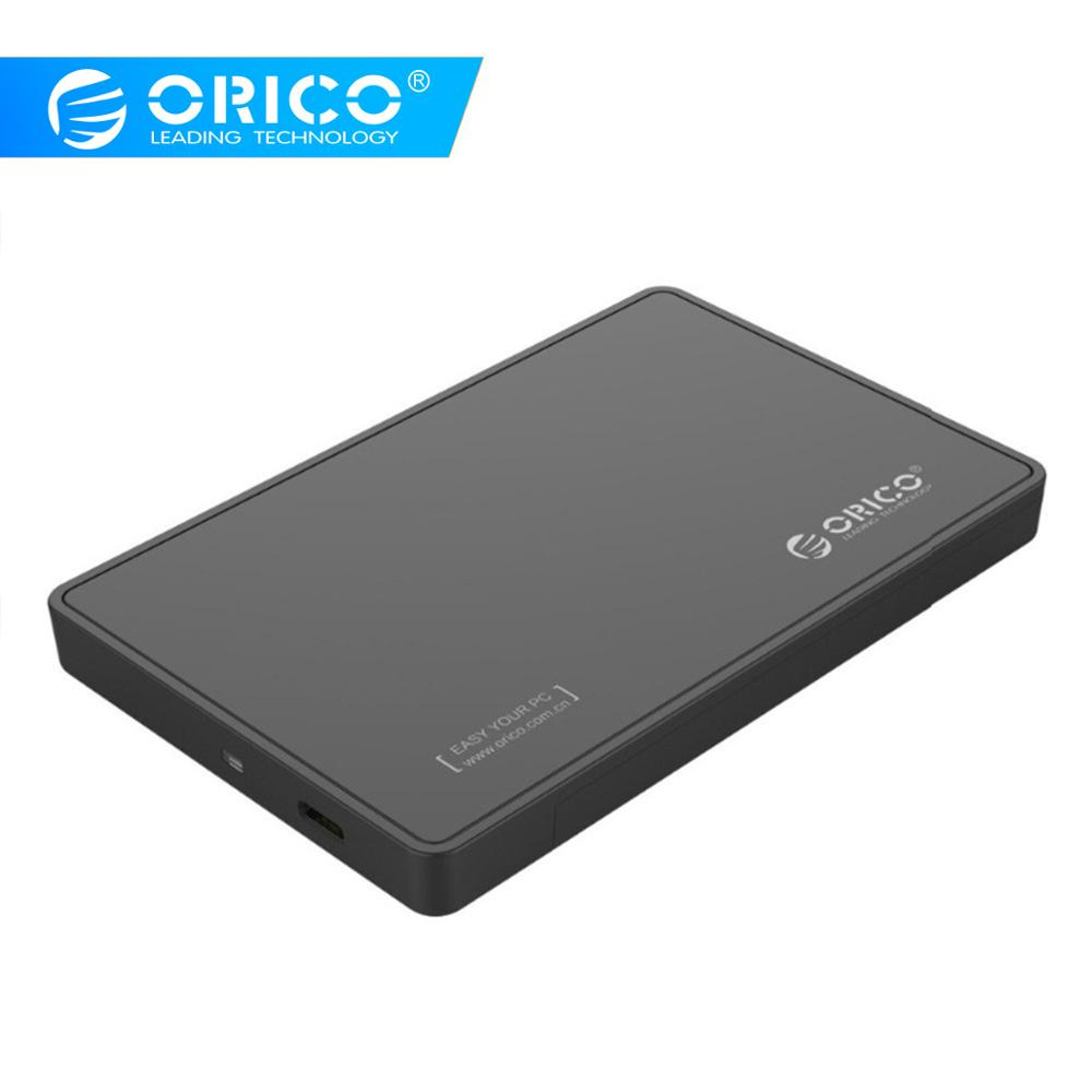 ORICO 2.5 Inch SATA3.0 To Type-C USB 3.1 Gen1 HDD Enclosure USB C Hard Drive Disk Box Support UASP For 2.5 Ssd Samsung HDD Case