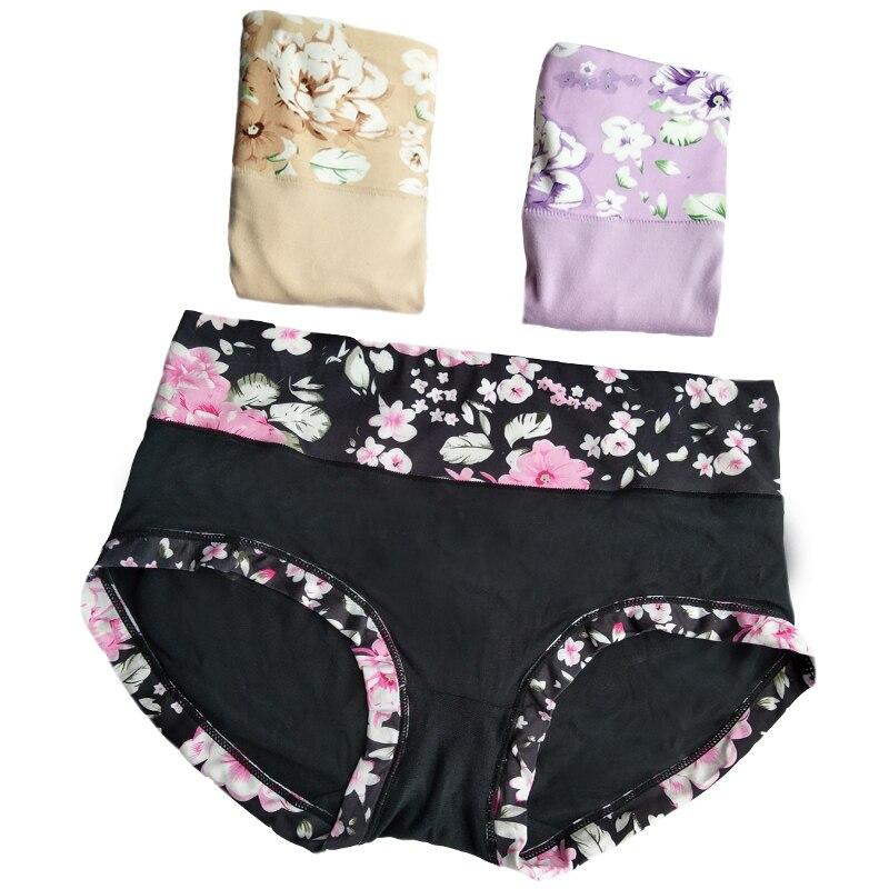 3 Pcs Underwear Women   Panties   Cotton Briefs Print Sexy   Panties   Women Calcinhas Thong Lingeries G-string Plus Size   Panty   Women
