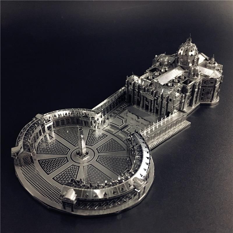 Mmz modelo nanyuan 3d metal modelo kit 1:1000 stpetermodel s basílica montagem modelo diy 3d corte a laser modelo quebra-cabeça brinquedos para adulto