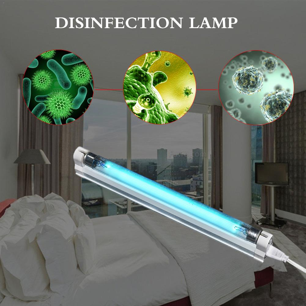 220V 8W UV Light Sterilizer Germicidal Lamp Ultraviolet Light Ozone Generator Disinfection Deodor Tube Kill Dust Mite Eliminator