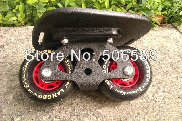 Livraison gratuite freeline patins noir planche noir roues langbo 6 génération outdo roulement