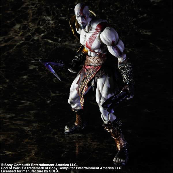 XINDUPLAN Play Arts Kai SCE Game God of War Ghost of Sparta Kratos Zeus Movable RPG Action Figure Toys 23cm Collect Model 0279