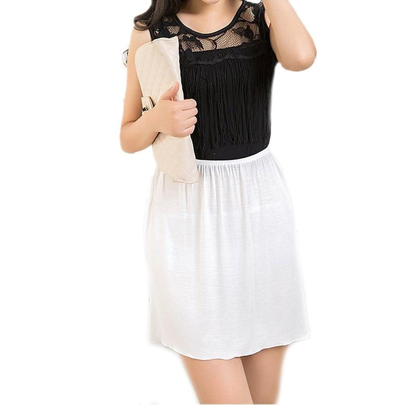 Frauen Petticoat Unterrock Pure New Solid Rock Modal Miniröcke Sexy Lady Slips Röcke Vestidos Summer Casual Unterkleid