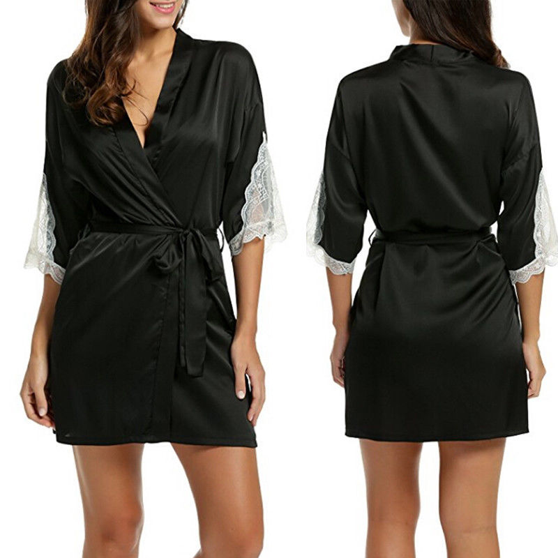 Women's Sexy Lingerie Summer Lace Babydoll Sleepwear Underwear G-String Ladies Drawstring Nightwear Solid Nightgown Mini Dress