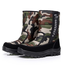 Men boots 2017 new arrivals thicken plush winter shoes high quality waterproof snow boots camouflage men boots for -40 degrees