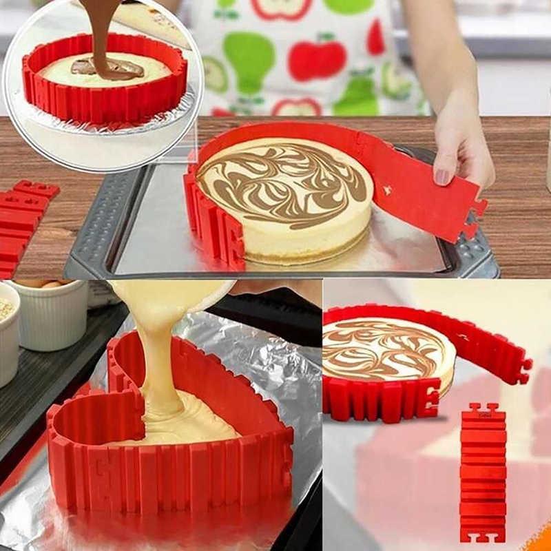 4 шт./компл. силиконовые формы для выпечки Волшебная форма для торта змея сковорода DIY выпечки квадратной прямоугольной формы сердца круглая форма для выпечки Кондитерские инструменты