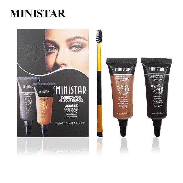 US $7 0 |MINISTAR Brand 2 Color Eyebrow Cream Mascara Gel Waterproof Eye  Brow Gel Pro Beauty Makeup Eyebrow Enhancer With Brush on Aliexpress com |