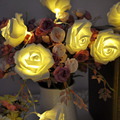 Fashion Holiday Lighting 20 x LED Novelty Rose Flower Fairy String Lights Wedding Garden Party Christmas Decoration  L0192587
