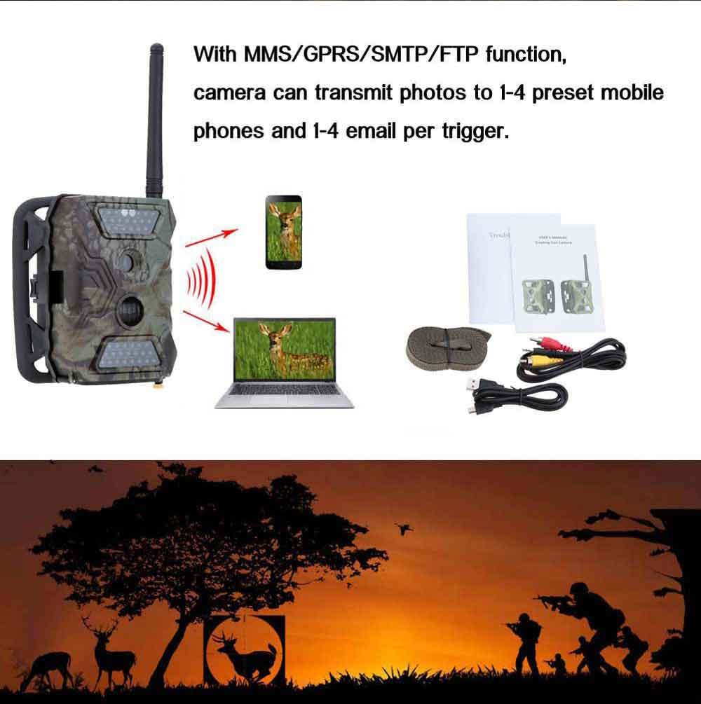 New MMS GPRS SMS font b Trail b font Game Scouting Wildlife Hunting 12MP HD Digital