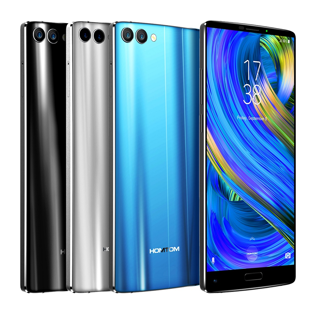 HOMTOM S9 Plus 5.99 ''Tri-bezelless Plein Écran 4G Smartphone Octa Core 4 GB + 64 GB Android Mobile Téléphone OTG D'empreintes Digitales 4050 mAh