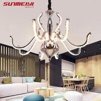 Modern K9 LED Crystal Aluminum Chandelier Suspension luminaire Living room Dining room Ceiling Chandeliers Lighting Fixture