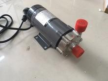Bomba de Accionamiento magnético MP15 con la cabeza de acero inoxidable 220 V. resistencia al calor 120 C. rosca de conexión de 1/2″