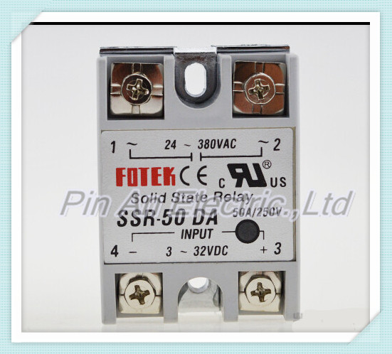 цена на 1pcs Free shipping solid state relay SSR-50DA 50A 3-32V DC TO 24-380V AC SSR 50DA relay solid state