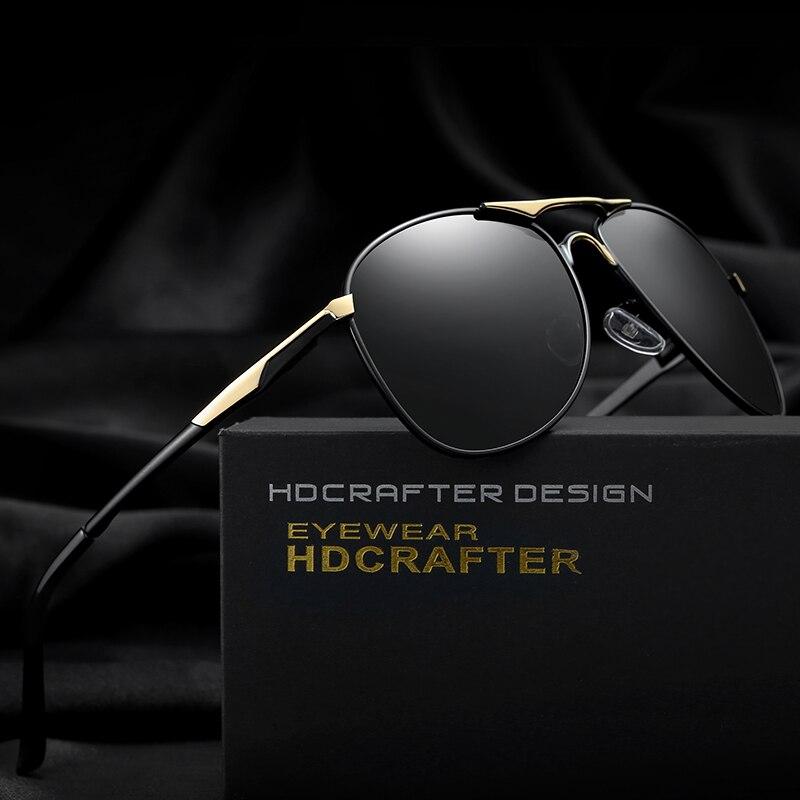 a35f1e489d HDCRAFTER classic polarized pilot sunglasses men uv400 brand retro men sun  glasses for male driving sunglasses polarized-in Sunglasses from Apparel ...