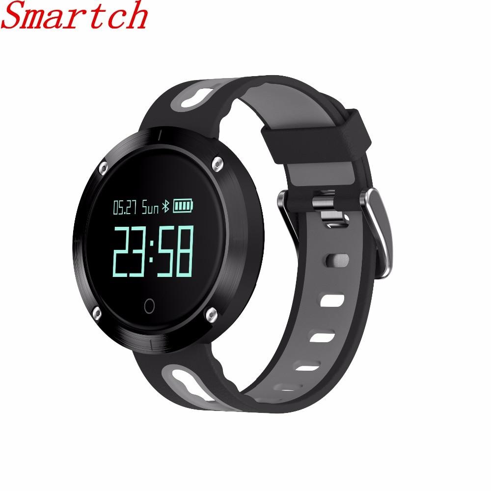 Smartch New DM58 Smart Wristband Heart Rate Monitor Blood Pressure IP68 Waterproof Smart Bracelet Bluetooth Watch PK Xiaomi Mi b цена 2017