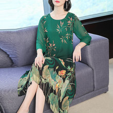 Chiffon dress female 2019 summer new style fashion gas loose printed large size M-3XL high quality elegant party vestidos
