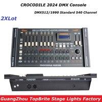 2XLot New CROCODILE 2024 DMX 512 Controller , Top Selling Stage Light Controller DMX Dj Disco club/Professional Audio Equipments