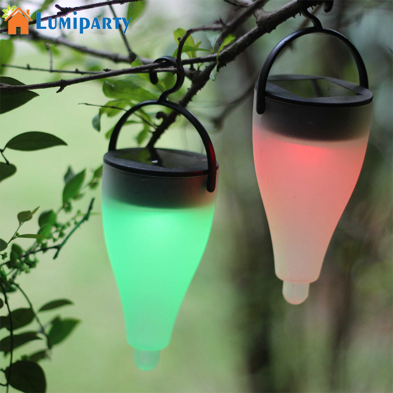 LumiParty Solar Light 7 Color Variable LED Solar Energy Lamp Outdoor Waterproof Garden Courtyard Lights Atmosphere Lights