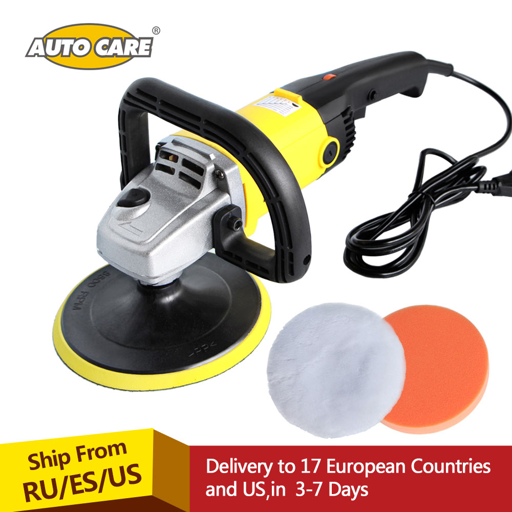 Car Polisher 1200W Variable Speed 3000rpm 180mm Car Paint Care Tool Polishing Machine Sander 220V M14 Electric Floor Polisher