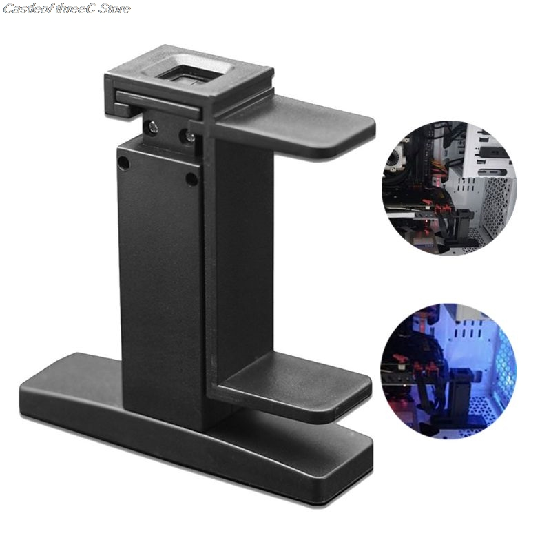 Black Computer Graphic Cards Stand Chassis Support Video Card Holder Bracket for GTX 1080 1060 1050 1030 950 980 960ti image