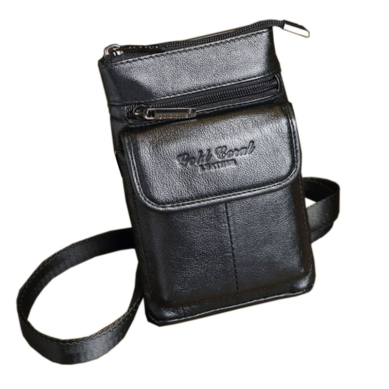 Új Férfi Vintage Genuine Leather Szarvasmarhák Hook Belt Buckle - Derék csomagok