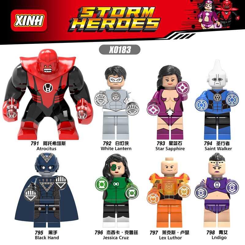 Singola Vendita DC Super Hero Atrocitus Saint Walker Black Mano Zaffiro Action Building Blocks Per Bambini Giocattoli del Regalo X0183
