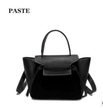 The first layer of leather fashion leather handbag shoulder bag new wings portable satchel handbags female surge 0791 summer new women leather handbags shell bag shoulder bags first layer of cowhide korean version of the wild fashion handbags