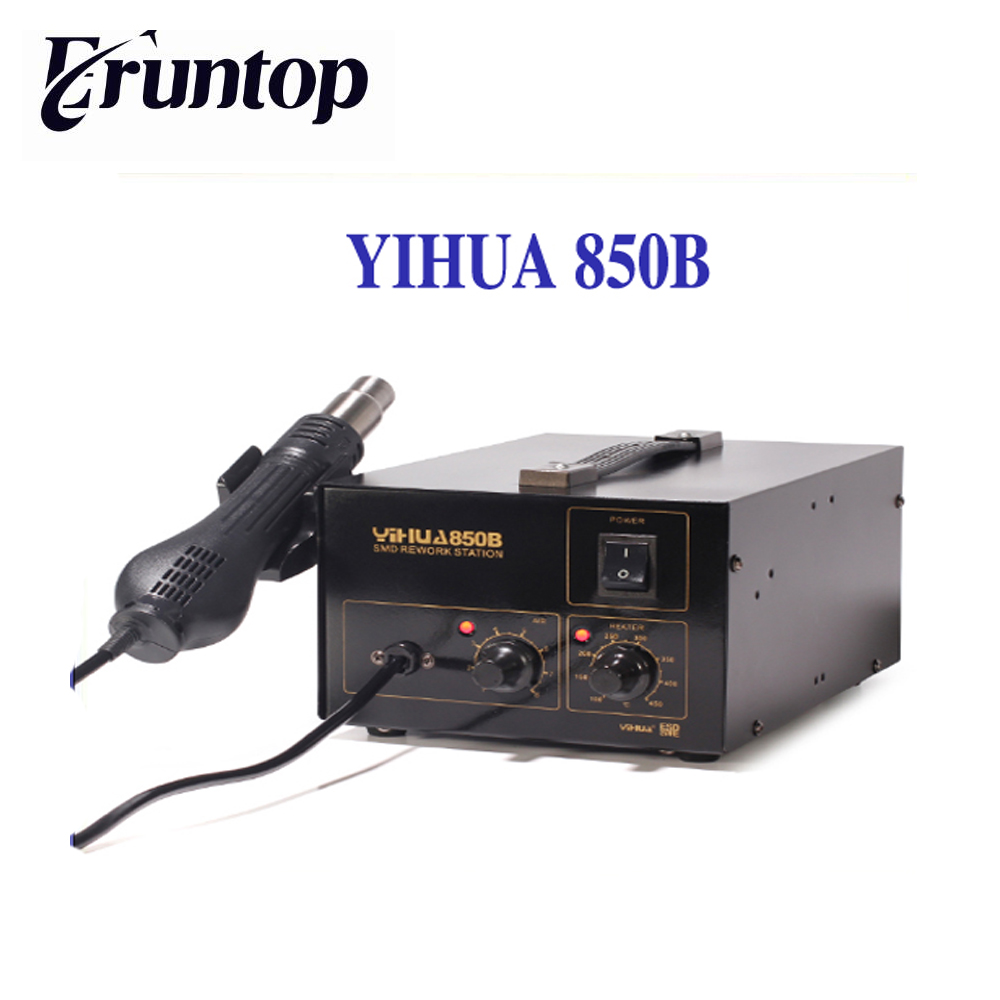 HOT YIHUA-850B 110V/220V Bulit-in Pump SMD SMT IC PCBA Rework Soldering Station Hot Air Gun Desoldering Tool yihua 898d led digital 700w lead free smd desoldering soldering station hot air soldering station